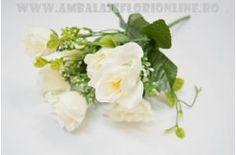 Decoratiuni :: Flori Artificiale :: Buchet artificial P alb - Depozit Ambalaje si Accesorii Flori