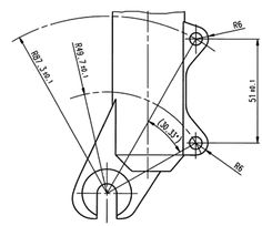 Front IS disc brake mount drawing
