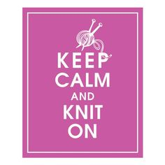 Keep Calm and #Knit on 8x10 PrintRasberry Rouge by KeepCalmShop $10.95 USD