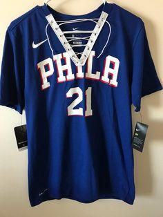 253385b2f6c Joel Embiid Philadelphia 76ers NBA Lace-Up Tee