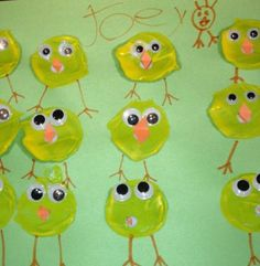 Toliet Roll Stamped Chick Craft for Prescholers | momstown National