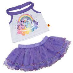 Build-A-Bear Workshop-United Kingdom: MY LITTLE PONY Rainbow Halter Skirt Outfit 2 pc.