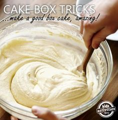 Here are some cake tips of simple things that you can do to make your boxed cake taste like it came from the corner bakery!