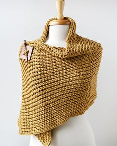 Luxurious Knit Wrap in Merino Wool and Cashmere by Elena Rosenberg Wearable Fiber Art