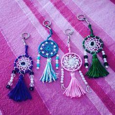 Aura's Tassel Dreamcatcher Keychains #auracreationsdreamcatcher #dreamcatcherkeychain #dreamcatcher #keychain #tassel #beads #crystalbeads #bangalore #india #dreamcatchersbangalore #homedecor #crafts #accessories #hangings #boho #bohemianstyle #hippie #gypsy Dream Catcher Mandala, Dream Catcher Craft, Small Dream Catcher, Dreamcatcher Design, Dreamcatcher Keychain, Bead Crafts, Arts And Crafts, Safety Pin Crafts, Diy Jewelry