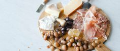 Cheese platter, good suggestions, plus recipes for roasted grapes +.