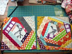 another crazy scrap quilt block. i want to do one of these for reeeeelz!