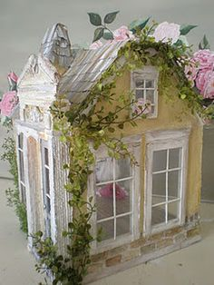 Ballerina Cottage Dollhouse complete with vines and old English roses...love it!   Jennie     Whitby, Ont.