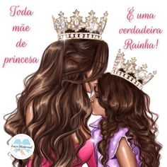 Minha princesa 👸 Mother Daughter Art, Mother Art, I Love My Daughter, Mom And Sister, Mom And Baby, Mommy And Me, Doll Drawing, Best Sister Ever, Girl M