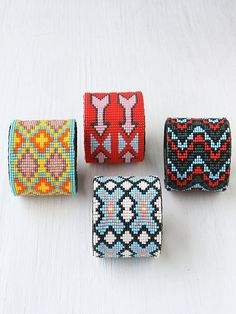 Beaded Design Large Cuff at Free People Clothing Boutique #boho