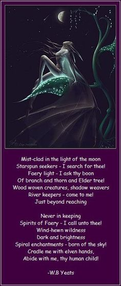 Spirits Of Faery - W.B Yeats - perfection