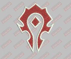 WOW Horde Emblem Machine Embroidery Design File Embroidery Files, Machine Embroidery Designs, Wow Horde, Wow Of Warcraft, Alliance Logo, Symbols, Art, Art Background, Icons