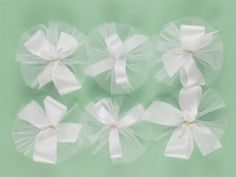 AC0917 - White Hair Bow Collection