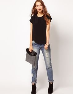 Top and jeans
