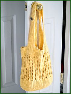The BYOB Market Bag is a stylish shoulder bag just perfect for your local Farmers' Market. It is a variation of the BYOB 2.0 - Bring Your Own Bag! pattern, and was originally worked alongside a series of Tutorial / Knit-along blogposts. The pattern includes links to the posts so that you can follow them as you work this pattern.