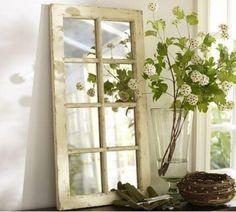 Como transformar uma #janela velha num bonito #espelho. Gosto muito! Saiba como fazer mais coisas em http://www.comofazer.org