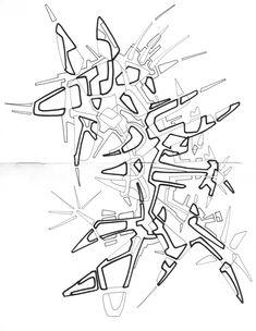 #2006 #abstractart #artabstrait #indianInk #encredechine #dessin #drawing #black #noir #marqueur #feutre #stylo #marker #pen #blackandwhite #futurist #mechanical #handdrawn #faitmain // 44-002