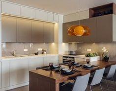 Mieszkanie w Gdyni 2013 - Średnia otwarta kuchnia w kształcie litery l w aneksie, styl nowoczesny - zdjęcie od formativ. kasia i michał dudko