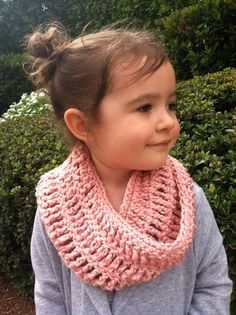 Soft Organic Crochet Toddler Cowl Infinity Scarf - You Choose Color. $25.00, via Etsy.