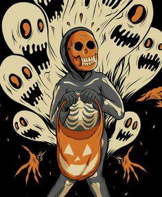 Vintage Halloween Photos, Retro Halloween, Creepy Halloween, Halloween Horror, Halloween Themes, Happy Halloween, October Art, Halloween Sweatshirt, Halloween Illustration