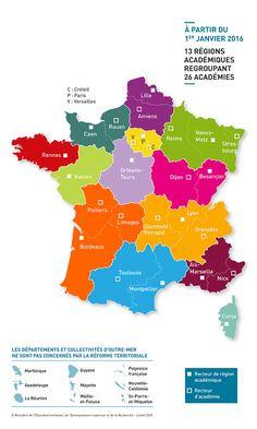 Réforme territoriale:13 recteurs de région académique pour la cohérence des politiques éducatives au niveau régional