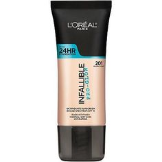 Infallible<sup>®</sup> Pro Glow Foundation 207 Sand Beige - Foundation Makeup Best Foundation For Dry Skin, Long Lasting Foundation, Best Drugstore Foundation, No Foundation Makeup, Loreal Infallible Foundation, Loreal Pro Glow Foundation, Maybelline Foundation, Foundation Online, Beauty Makeup