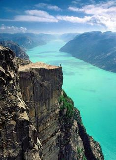 At the edge of the world in Preikestolen, Norway.