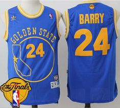 422b4747db6 Warriors  24 Rick Barry Blue Throwback Golden State The Finals Patch  Stitched NBA Jersey Adidas