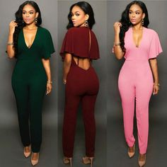 6383122680ba USA Women Ladies Clubwear Hollow Playsuit Bodycon Party Jumpsuit Romper  Trousers. Ruffle JumpsuitJumpsuit With SleevesBodycon JumpsuitRomperNude ...