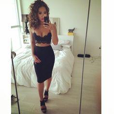 Loving the Lace Crop! @bellabella_clothes
