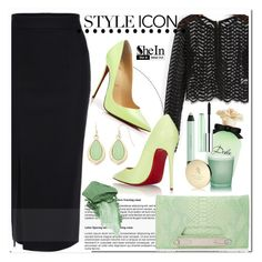 """Shein.com 7"" by aida-nurkovic ❤ liked on Polyvore featuring Christian Louboutin, Danielle Nicole, Dolce&Gabbana, shu uemura, Clinique, Bulgari, Liz Claiborne, Urban Decay, women's clothing and women's fashion"