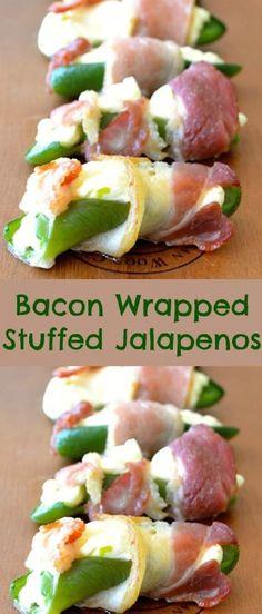 Bacon Wrapped Stuffed Jalapeños recipe.