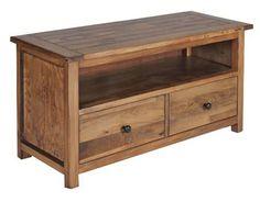 dayton wooden flatscreen tv unit with 2 drawers