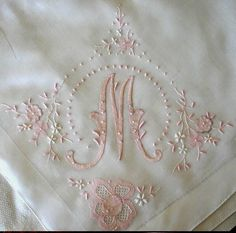 Gorgeous, Embroidered Linens~❥