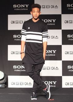 Actor Jaden Smith attends the 'After Earth' press conference on May 7, 2013 in Seoul, South Korea. Will Smith and Jaden Smith are visiting South Korea to promote their recent film 'After Earth' which will be released in South Korea on May 30.