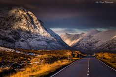 The drive into the light of Glencoe, passing Buchaille Etive Mor on the left.