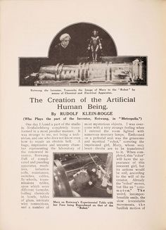 Recovered 1927 Metropolis Film Program Goes Behind the Scenes of a Sci-Fi Masterpiece | Underwire | Wired.com