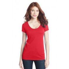Women's blend scoop t-shirt made from comfortable, lightweight cotton-polyester