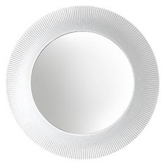 The All Saints mirror is inspired by Kartell's best-selling Bourgie lamp, its round pleated frame paying a nod to the traditional while casting contemporary shadows and reflections. Designed by Ludovica and Roberta Palomba, this opulent and innovative des