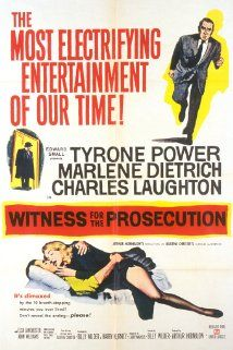 Witness for the Prosecution   Tyrone Power, Marlene Dietrich, Charles Laughton  MGM-Pathe Communications, 1957