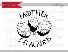 Game of Thrones Daenerys mère des Dragons d'inspiration téléchargement fichier de coupe en Svg, Eps, Dxf et Format Jpeg