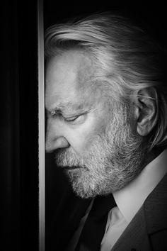 Donald Sutherland photographed by Kurt Iswarienko.