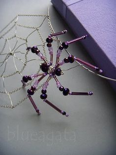 spider web necklace made of beads