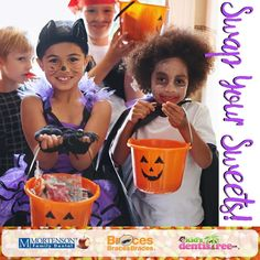 Bring in your extra or unwanted Halloween candy to any BracesBracesBraces Mortenson Family Dental or Kid's Dentistree location before November 15th and receive a $5 Gift Card! Donations go to @operationgratitude.eths. Contest is for Kentucky and Indiana locations only. Candy must fill one sandwich bag to receive Gift Card. #swapyoursweets #NDHM2016 #ndhm #halloween #candybuyback #operationgratitude #halloweenkids #candy #ky #indiana #kentuckiana #dentallife #dentistry #dental #ortho #braces