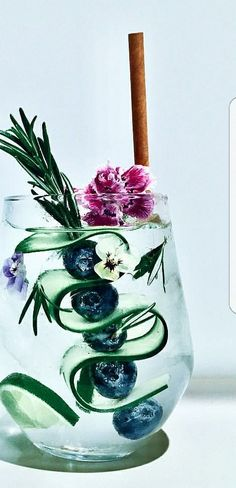 garnished gin and tonic | ChicChicFindings.etsy.com