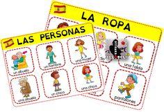 Espagnol : un imagier, des flashcards, un bingo (la ropa, las personas) - Les…