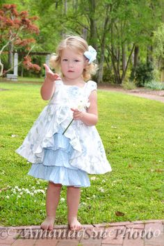 girls+white+and+blue+ruffled+dress+flower+girl+by+SoSoHippo,+$58.00