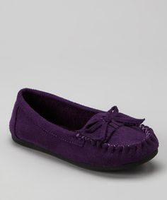 Ositos Shoes Purple Tasha-2 Moccasin by Ositos Shoes #zulily #zulilyfinds