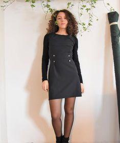 Sono felice di condividere l'ultimo arrivato nel mio negozio #etsy: abito Anna - abito stile russo - abito con bottoni - tubino morbido http://etsy.me/2nMrlbS #abbigliamento #donna #vestiti #grigio #laurea #sanvalentino #nero #abitostilerusso #annakarenina #tubino