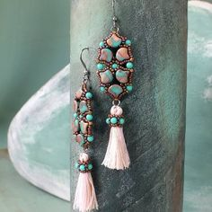 """Fairy Wings"" earrings   Matubo"